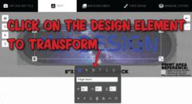 how to adjust the design element on your custom skateboard deck