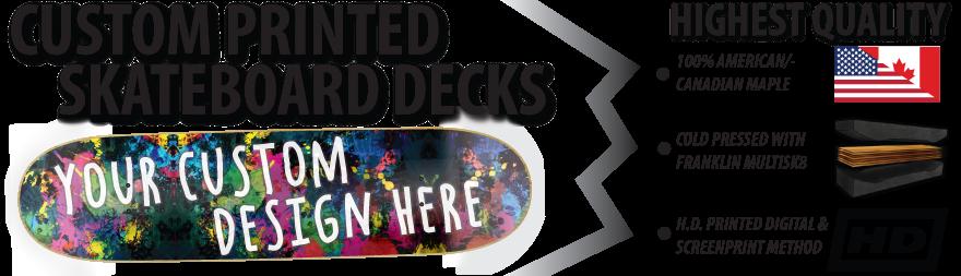 high quality custom skateboards