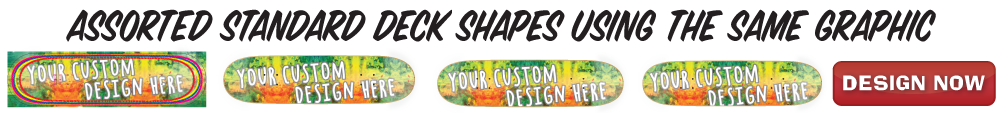 custom printed popsicle skateboard decks with the same artwork