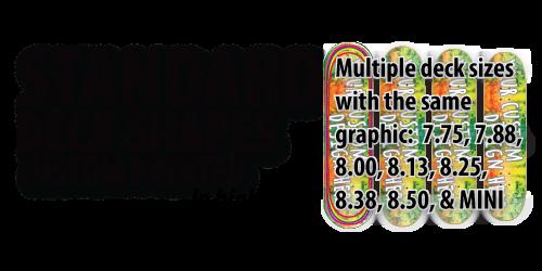 design skateboard decks with the same image